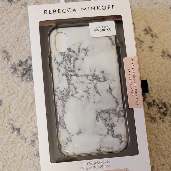 Rebecca Minkoff iPhone XR Glitter Marble Case